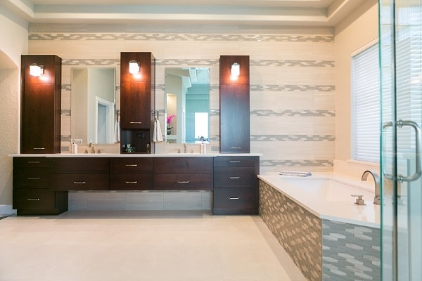 Spacious Master Bath Remodel. Custom Bathroom Design and Remodeling Company   KBF Design Gallery