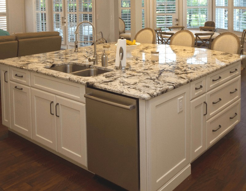 Kitchen design trends kbf design gallery - Functional kitchen island with sink ...