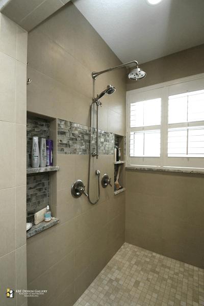 Master bathroom remodel in sanford kbf design gallery for Whole bathroom remodel