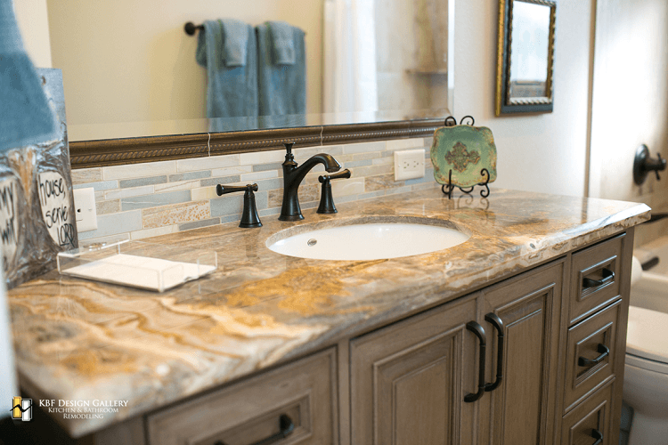 Traditional home remodel guest baths kbf design gallery for Bathroom remodel photo gallery