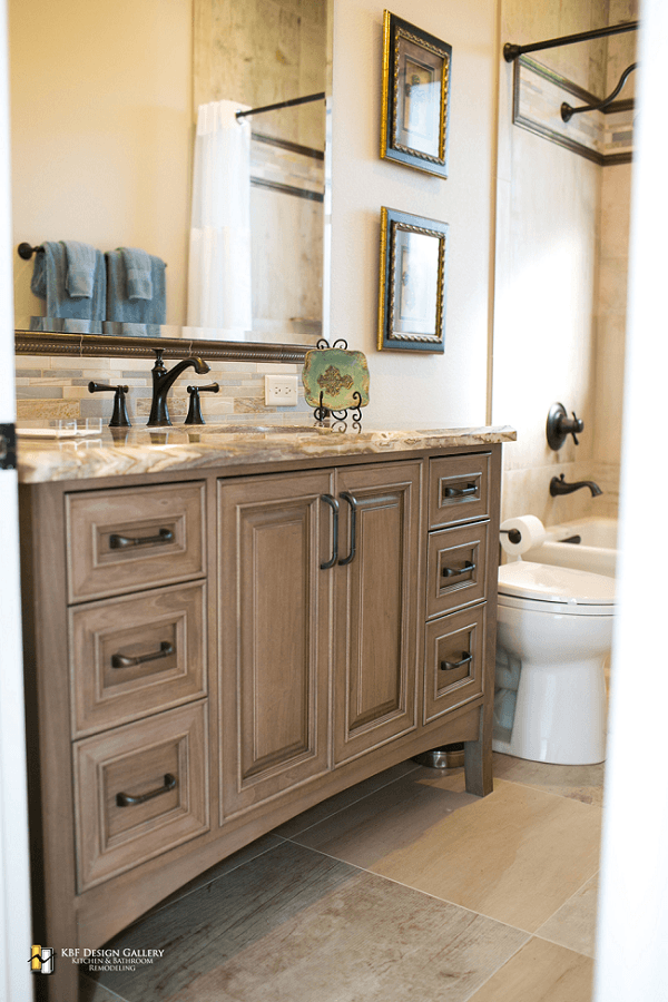 Traditional Home Remodel - Guest Baths - KBF Design Gallery