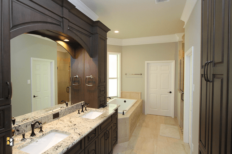Traditional home remodel master bath kbf design gallery for Bath remodel orlando