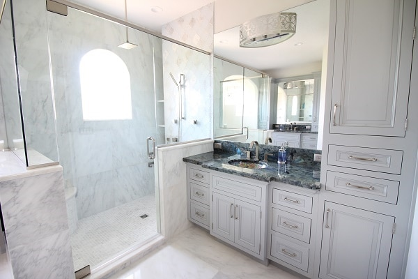 Nice Spa Like Master Retreat · Marble Tile Master Bath ...