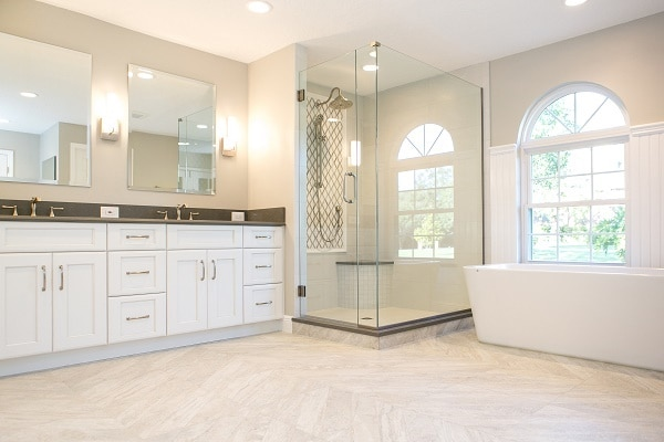 Custom bathroom design and remodeling company kbf design for Custom bathroom design
