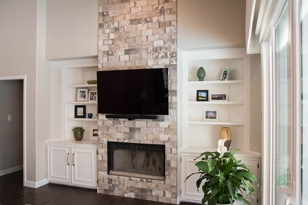 Fireplace Remodel with Tile