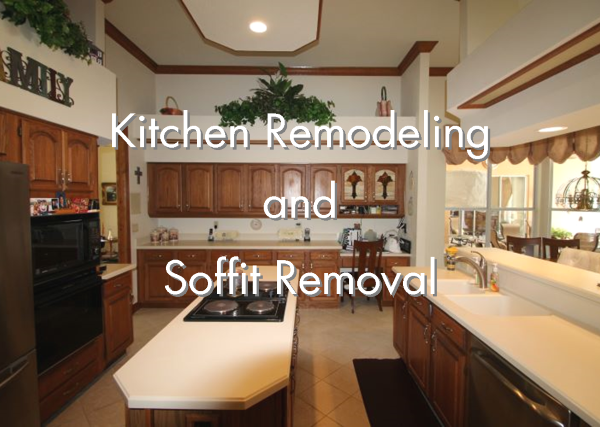 Kitchen Remodeling And Soffit Removal, How To Remove Bulkhead In Kitchen