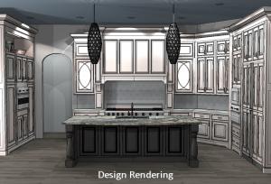 Kitchen Remodel 2D Design Rendering