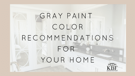 Gray Paint Color Recommendations