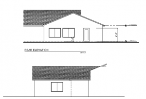 Elevations before and after addition