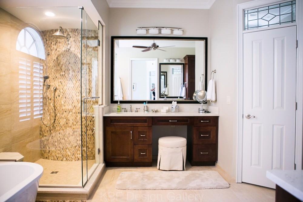 Free Standing Tub Master Bath - KBF Design Gallery