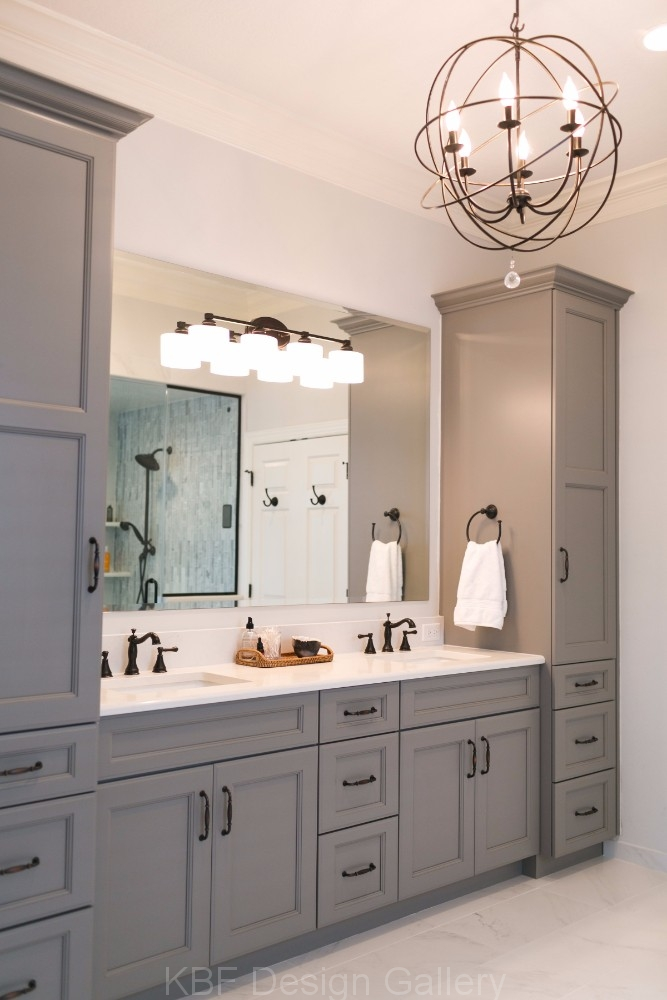 Master bathroom with steam shower kbf design gallery for Master bathroom double vanity