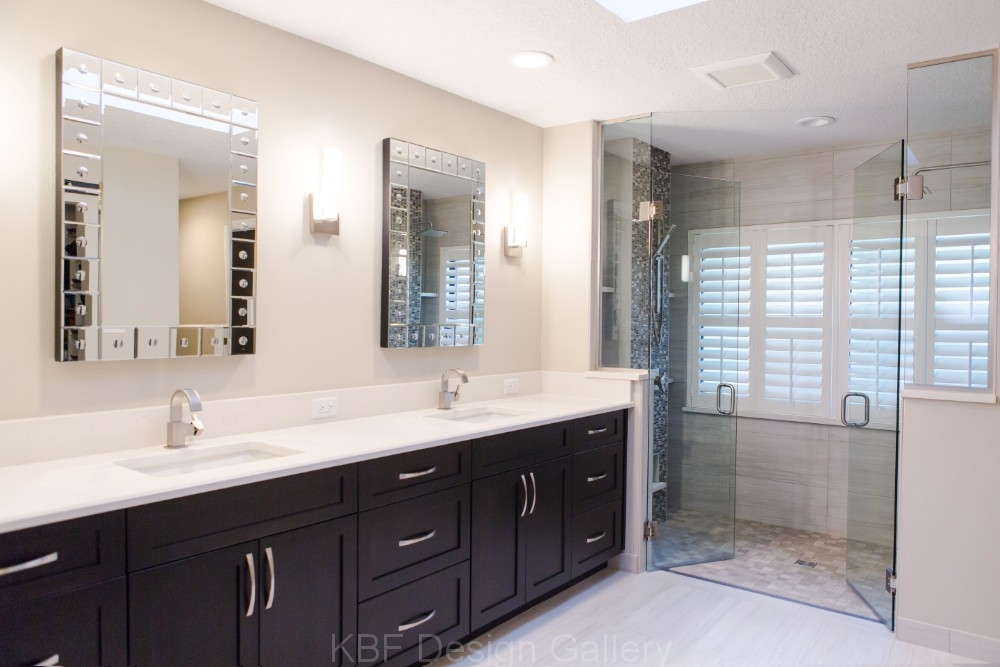 master bathroom with double shower  kbf design gallery