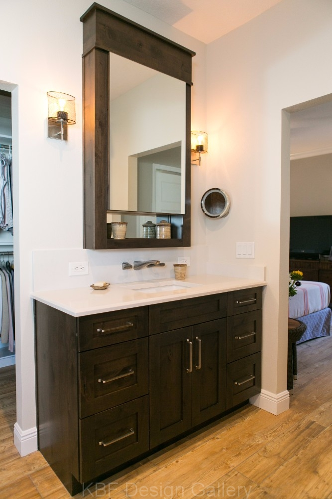 Barn Door Mirror Master Bath - KBF Design Gallery