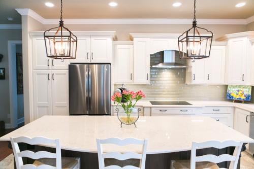 Kitchen Remodel Pendants over Island