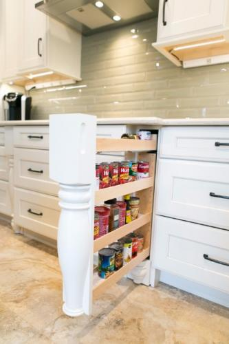 Kitchen Remodel Spice Storage